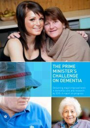 THE PrimE minisTEr's cHallEngE on dEmEnTia