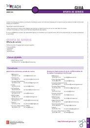 OFERTA DE SERVEIS - InfoREACH