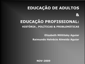 EDUCAÇÃO DE JOVENS E ADULTOS NO BRASIL ... - ufrgs
