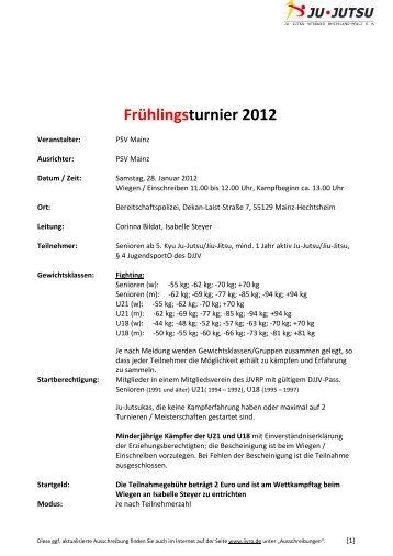 Frühlingsturnier 2012 - Ju-Jutsu-Verband Rheinland-Pfalz e.V.