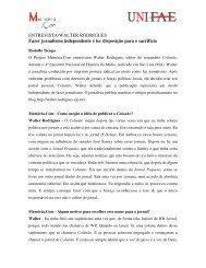 ENTREVISTA/WALTER RODRIGUES Fazer jornalismo ... - Fae
