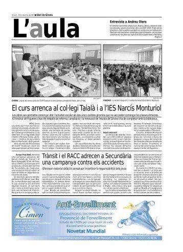 El curs arrenca al col·legi Taialà i a l'IES Narcís Monturiol