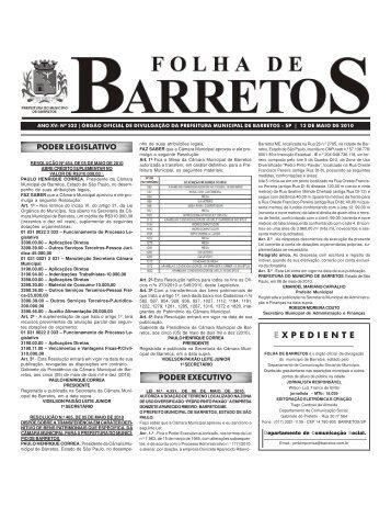 Edição 522 - 12 de Maio de 2010 - Prefeitura de Barretos