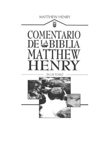 Comentario de la Biblia Mattew Henry en un tomo