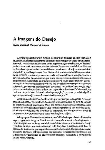 A Imagem do Desejo - Escola Letra Freudiana