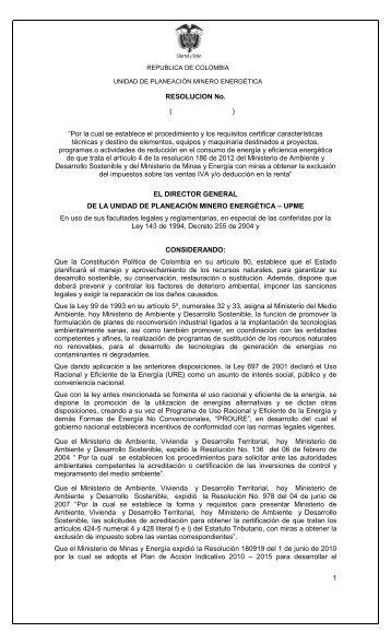 REPUBLICA DE COLOMBIA - Responsabilidad Integral Colombia