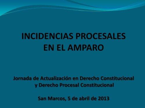 Incidencias en el Amparo, Julio Cordón - Corte de Constitucionalidad