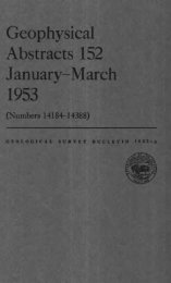 Geophysical Abstracts 152 January-March 1953