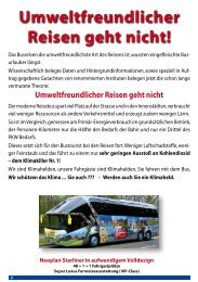 Umweltfreundlicher Reisen geht nicht! - Job Tours GmbH
