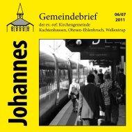 Gemeindebrief - ref. Johannesgemeinde Kachtenhausen