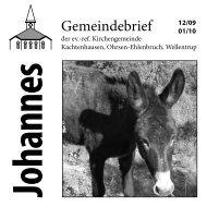 Ausgabe 12/2009-01/2010 - ref. Johannesgemeinde Kachtenhausen