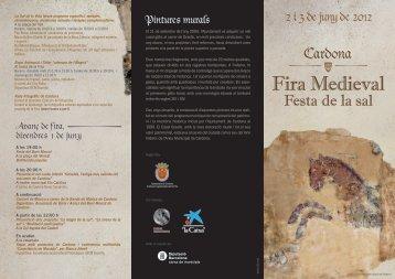 Fira Medieval - Ajuntament de Cardona