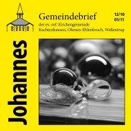 Ausgabe 12/2010-01/2011 - ref. Johannesgemeinde Kachtenhausen