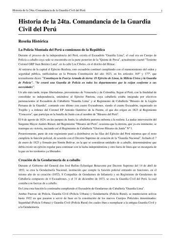 Historia del Potao - Asociacion de policias peruanos en retiro en el ...