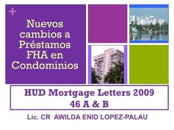 Nuevos Cambios de la Federal Housing Administration (FHA)