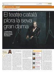 recull de premsa (pdf) - Teatre Lliure