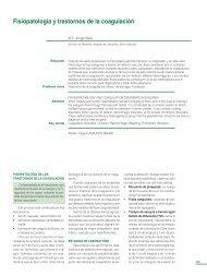 Fisiopatología y trastornos de la coagulación - sepeap