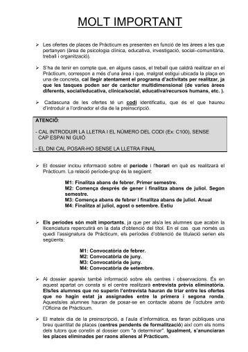 MOLT IMPORTANT - Universitat de Barcelona