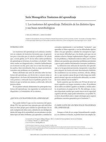 1. Los trastornos del aprendizaje. Definición de los distintos tipos y ...