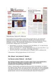 """Übersetzung: Zeitschrift """"Réforme"""" Die """"Missa ... - Johann-P-Reuter"""