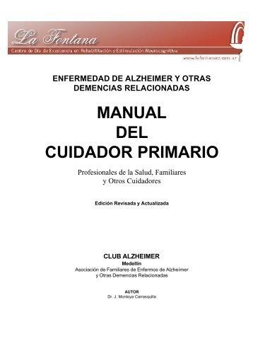 Manual del cuidador primario - Autor - La Fontana Centro de Día