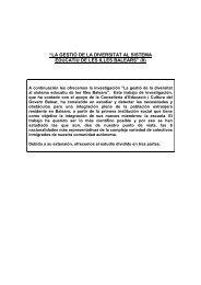 """""""la gestió de la diversitat al sistema educatiu de les illes balears"""" (ii)"""