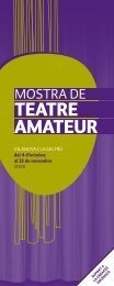 TEATRE AMATEUR - Ajuntament de Vilanova i la Geltrú