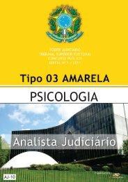 analista judiciário - psicologia - tipo 3 - amarela - Consulplan
