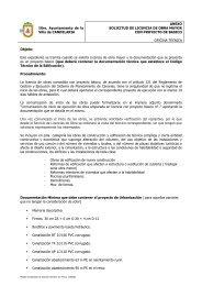 Anexo Solicitud de Licencia de obra mayor con - Candelaria