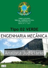 analista judiciário - engenharia mecânica tipo 2 - verde - Consulplan