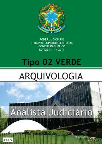 analista judiciário - arquivologia - tipo 2 - verde - Consulplan