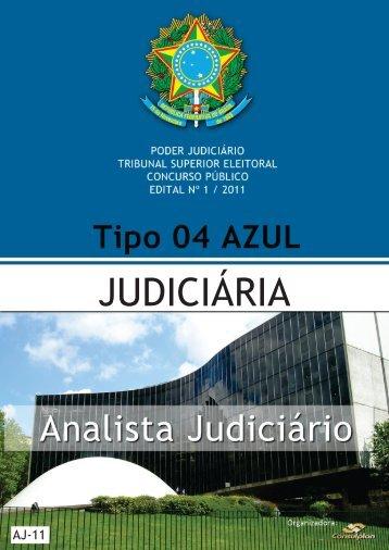 ANALISTA JUDICIÁRIO - JUDICIÁRIA - TIPO 4 - AZUL - Consulplan