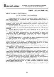 Generalitat de Catalunya Departament d'Educació 1/2 LLENGUA ...