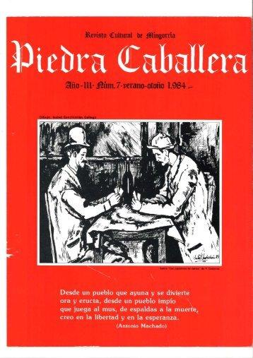 Piedra Caballera. Revista cultural de Mingorría