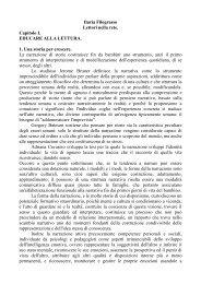 Ilaria Filograsso Lettori nella rete. Capitolo I. EDUCARE ALLA ...