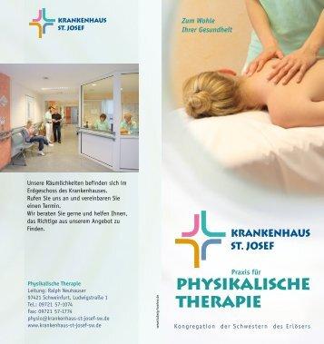 Physikalische Therapie - beim Krankenhaus St. Josef