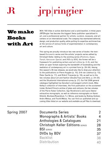 Documents Series Monographs & Artists' Books ... - JRP-Ringier.com