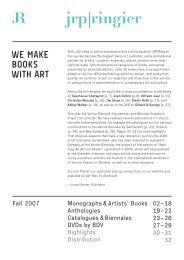 We make Books With art - JRP-Ringier.com