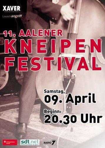 Programm 11. Aalener Kneipenfestival