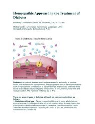 Homeopathic Approach in The Treatment of Diabetes - Similima