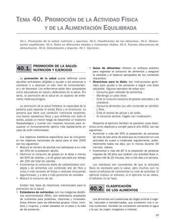 TEMA 40. PROMOCIÓN DE LA ACTIVIDAD FÍSICA Y ... - Grupo CTO