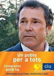 Programa electoral 2007 - CiU