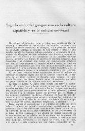 Significación del gongorismo en la cultura española y en la ... - Helvia