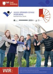 Schulbroschüre - Julius-Springer-Schule