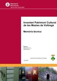 Memòria - Patrimoni cultural - Diputació de Barcelona
