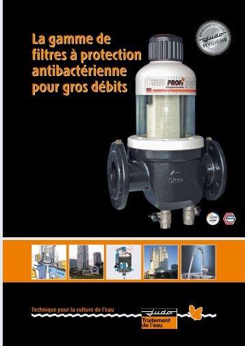 La gamme de filtres à protection antibactérienne pour gros débits La ...