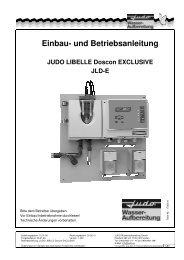 Einbau- und Betriebsanleitung - Judo Wasseraufbereitung GmbH