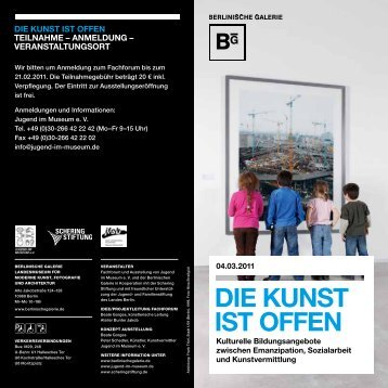 DIE KUNST IST OFFEN - Jugend im Museum