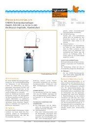 Produktdatenblatt JUDO UNIDOS Dosierpumpenanlagen