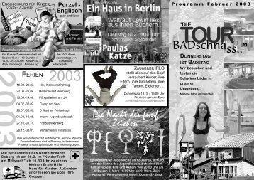 FB Februar 2003.qxd - Willkommen in den Jugendhäusern ...